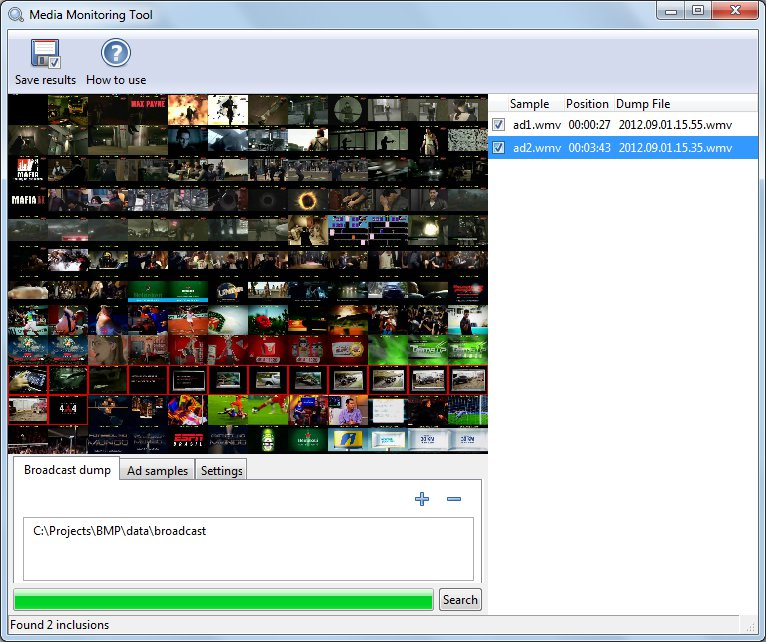 Media Monitoring Tool software screenshot